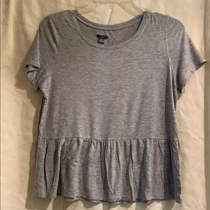 Aerie - crop ruffle T-shirt